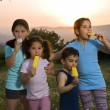 Kids having pop ice — Stock Photo