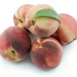 Group of peaches isolated on white — Stock Photo