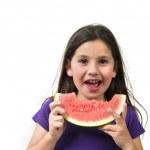 Girl eating Watermelon — Stock Photo #1414363