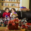 Kids and presents — Stock Photo #1414653