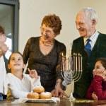 Hanukkah celebration — Stock Photo