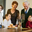 Stockfoto: Hanukkah celebration