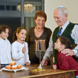 Hanukkah celebration — Foto Stock