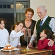 Hanukkah celebration — Stockfoto