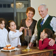 Hanukkah celebration - Stock Photo