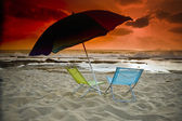 Beach sunset — Stock Photo