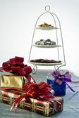 Gifts in a party — Stock Photo