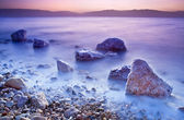 Sunrise over the dead sea — Stock Photo