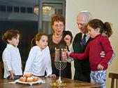 Celebração do Hanukkah — Fotografia Stock