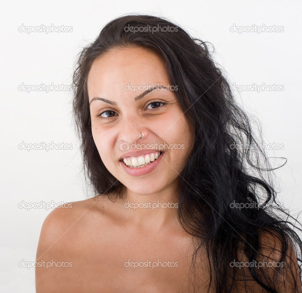 Portrait of beautiful young hispanic woman — Stock Photo #1411554