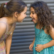 Two girls having fun — Stock Photo