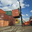 Stock Photo: Containers staking