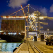 Cargo ship by night — Stock Photo #2219469