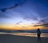 Shooting the sunset — Stock Photo