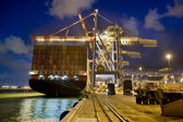 Cargo ship by night — Stock Photo
