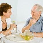 Senior couple herbal tea — Stock Photo #2222397