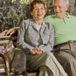Seniors on a bench — Stock Photo #2228956