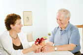 Senior couple gifts — Stock Photo