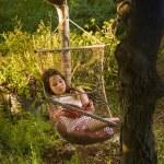 Girl in hammock dream — Stock Photo #2235350