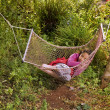 Royalty-Free Stock Photo: Girl sleeping in a hammock