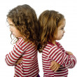 Stock Photo: Two girls in quarrel