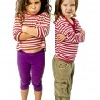 Two girls in quarrel — Photo