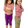 Two girls in quarrel - Stock Photo