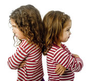 Two girls in quarrel — Stock Photo