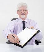Contrato de entrega de empresário — Foto Stock