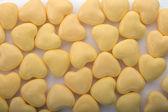 φόντο κίτρινο καρδιές — Φωτογραφία Αρχείου