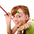 Stock Photo: Happy young artist