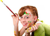 Happy young artist — Stock Photo