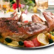 Royalty-Free Stock Photo: Roast rabbit