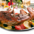 Stock Photo: Roast rabbit