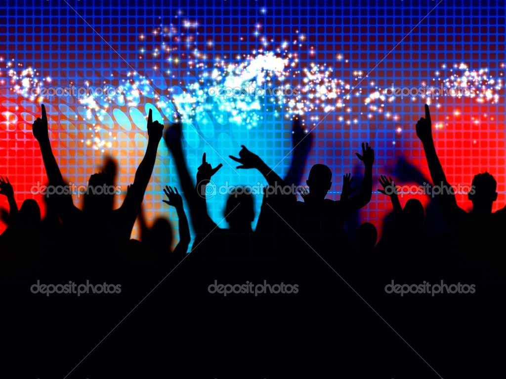Dancing in the disco lights — Stock Photo #1859111
