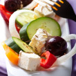 Greek salad with marjoram - Stock Photo