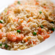 Stock Photo: Rice with shrimp