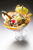 Ice cream - sundae — Stock Photo