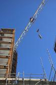 Stavební jeřáb — Stock fotografie