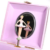 Girl's jewelery box — Stock Photo