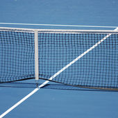Blue tennis court — Stock Photo