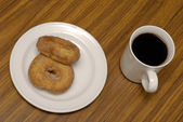 Coffee and donuts — Stock Photo