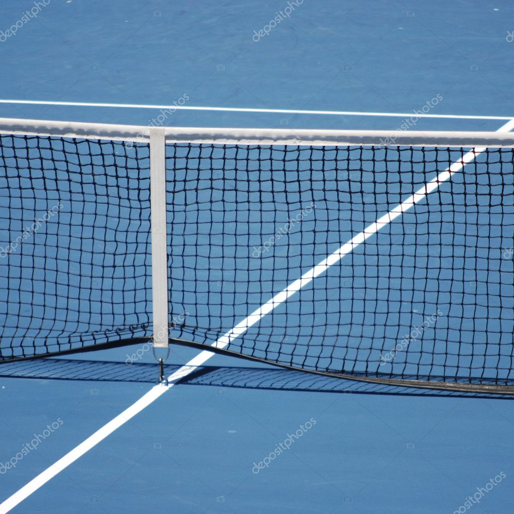 Blue tennis court — Stock Photo #1610366