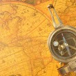 Stock Photo: Old-age compass
