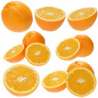 Set of fresh orange fruits — Stock Photo #1574701