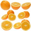 Stock Photo: Set of fresh orange fruits