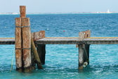 Wood pier - Mexico — Stock Photo