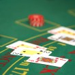 Black jack in casino — Stock Photo