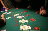 Black jack in casino — Stock Photo