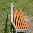 Stock Photo: Benches by playgroud